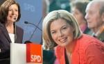 Eine Premiere: Erstmals treten zwei Frauen als Spitzenkandidatinnen in einem Landtagswahlkampf an. (Foto: Rainer Voss und cdurlp/WikimediaCC BY-SA 3.0)