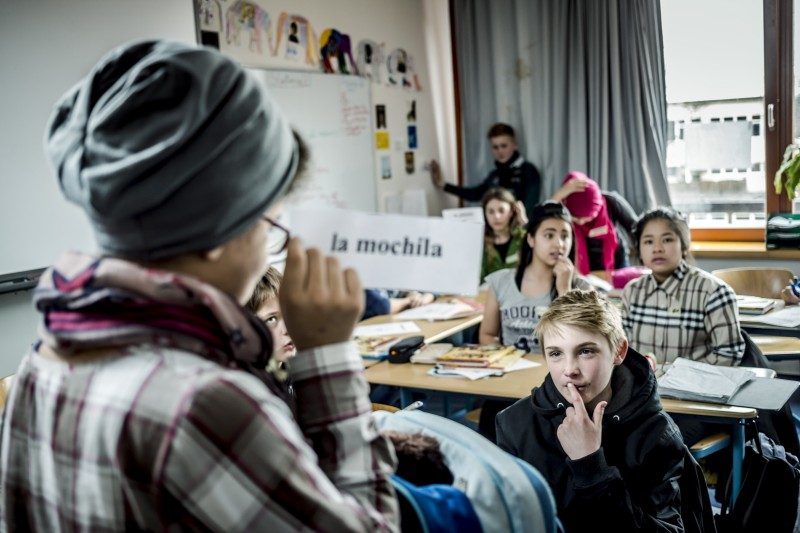 Deutscher Schulpreis 2015: das GanztagsGymnasium Klosterschule in Hamburg. Klasse 6d Spanisch.