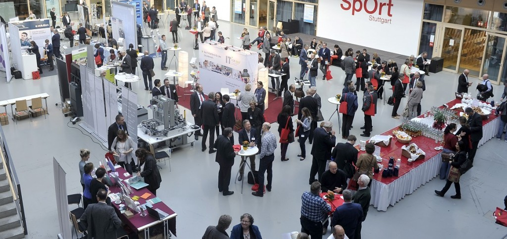 Jahreskongress Berufliche Bildung: der Ausstellungsbereich. Foto: jakobb