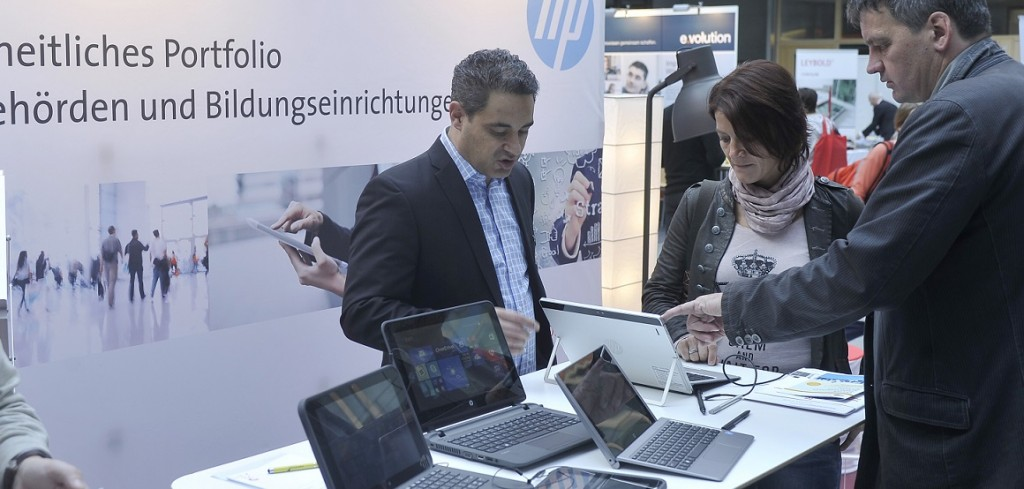 Hewlett Packard demonstrierte neue Möglichkeiten in der digitalen Bildung. Foto: jakobb