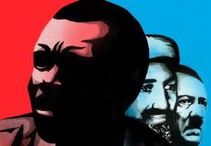 Eindeutige Schurkenrolle: Kony in einer Reihe mit Osama bin Laden und Hitler macht jede Verwechslung unmöglich.