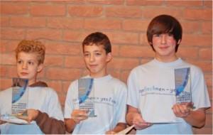 Siegerehrung bei der Meisterschaft im Kopfrechnen 2009. Foto: Veranstalter