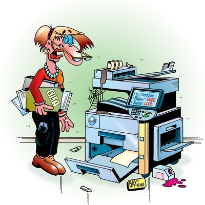Mal wieder im Stress und kein Papier vorhanden? (Illustration: Stefan Bayer/pixelio.de)