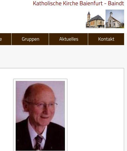 So stellt die Kirchengemeinde ihren Pfarrer vor. (Screenshot)