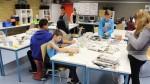 Im Stockwerksmodell können sich die Schüler frei bewegen. Foto: Deutscher Lehrerpreis