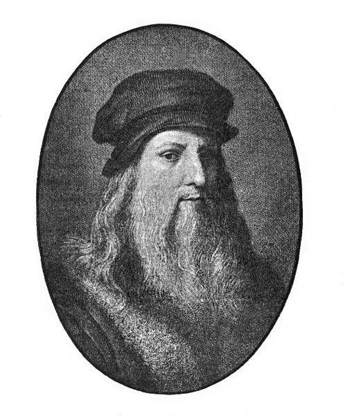 Universalgenie: Leonardo da Vinci, Porträt aus dem 19. Jahrhundert auf der Basis eines Selbstporträts. Foto: Wikimedia Commons