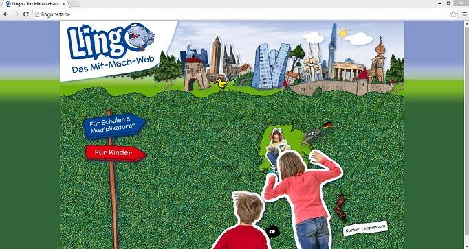 """Das """"Lingo""""-Internetportal bietet sowohl Lernangebote für Kinder als auch Informationen für Lehrer. Screenshot von lingonetz.de"""