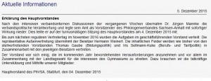 Erklärung auf der Seite des Philologenverbands Sachsen-Anhalt, Screenshot.