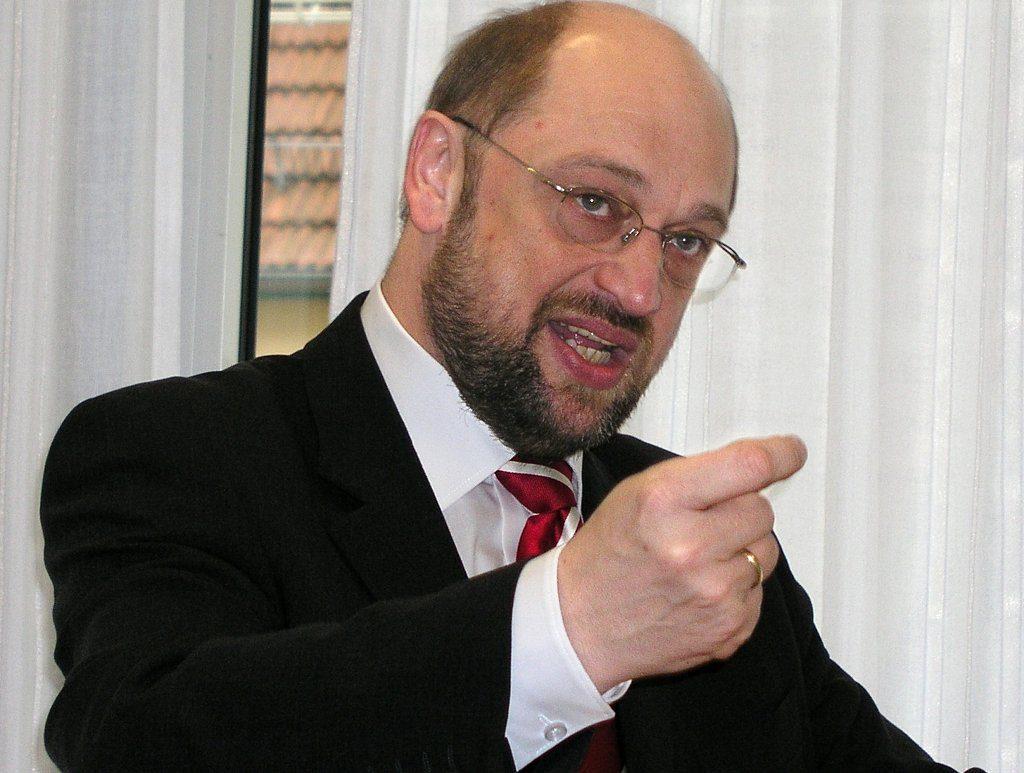 Sprach zuerst von 10 bis 12 Milliarden Euro Investitionen mehr pro Jahr, später von 30 Milliarden: Martin Schulz präsentierte in Berlin 13 Thesen zur Bildung. Foto: Von Michael Weiss, /Wikimedia Commons (CC BY-SA 2.5)
