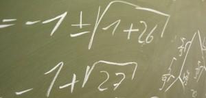 Mathematik-Aufgaben an der Tafel