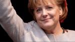 Freut sich über die  Angela Merkel.