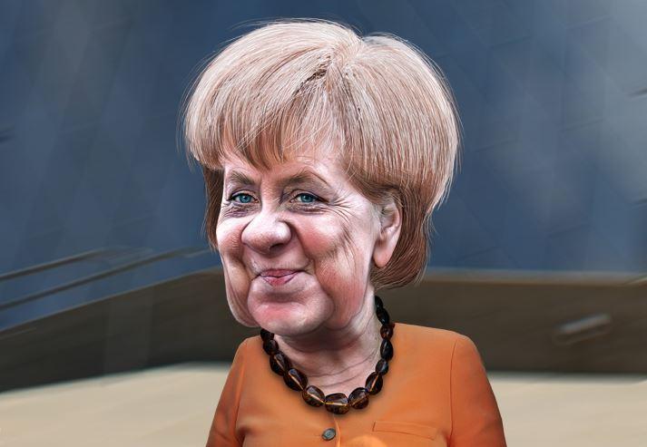 Hat die Länderchefs aus dem Süden ausgetrickst - und darf in der Schulpolitik ab sofort mitreden: Bundeskanzlerin Angela Merkel. Karikatur: DonkeyHotey / flickr (CC BY 2.0)