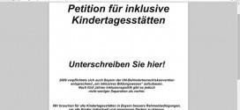 GEW Bayern kämpft mit Bündnispartnern für eine bessere Inklusion in Kitas