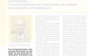 Der umstrittene Leitartikel bringt Sachsen-Anhalts-Philologenchef Mannke vermutlich nicht ganz die Debatte, die er angestrebt hat. Foto: Screenshot