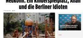 """Wie hysterisch die neue Rechte auf einen Kinderspielplatz reagiert: """"Islamisierung"""" mit Ali Baba"""