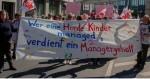 Die Kita-Beschäftigten haben schon vier Wochen lang gestreikt - Managergehälter gibt's trotzdem nicht. Foto: GEW