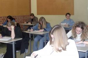 Schüler in einer Prüfung