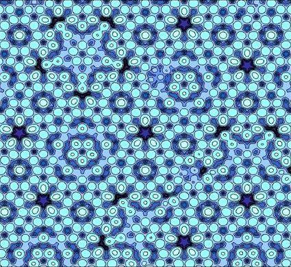 Atommodell eines Al-Pd-Mn Quasikristalls (Foto: J.W. Evans/Wikimedia Public Domain)