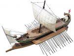 """""""Bunt bis zum geht nicht mehr"""": Römische Bireme, ein Ruderkriegsschiff mit zwei Reihen von Riemen übereinander. Illustration: Rama / Wikimedia Commons (CC BY-SA 2.0 fr)"""