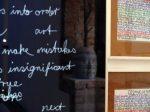 Handschreiben in der Kunst - Thema einer Ausstellung in der Ruine der Künste, Berlin. Foto: Ruine der Künste