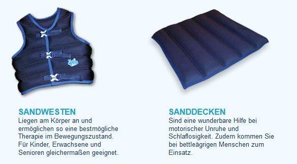 """Solche """"Sandwesten"""" und Zubehör werden im Internet angeboten. Screenshot"""