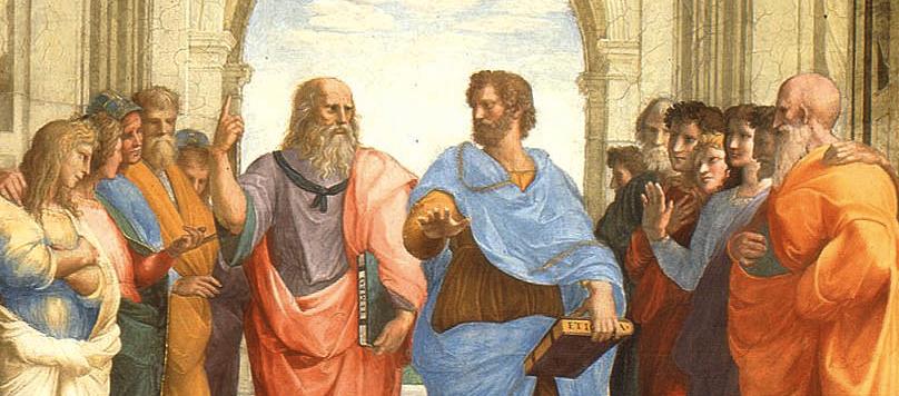 Ausschnitt aus Rafaels Schule von Athen