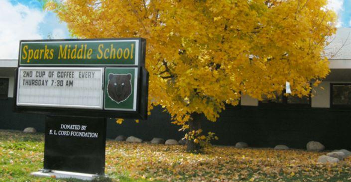 Die Sparks Middle School hat als Maskottchen einen Bären. Foto: Sparks Middle School
