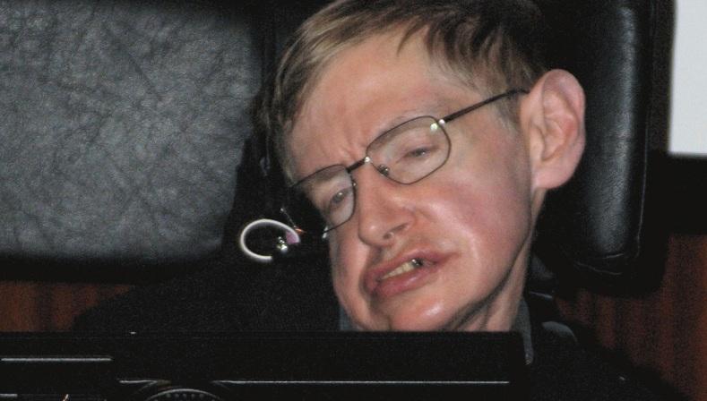 Dem schwerkranken Physiker Stephen Hawking, hier auf einem Kongress 2006, fällt es zunehmend schwerer, mit seiner Umwelt zu kommunizieren. Foto: ²°¹°° / Wikimedia Commons
