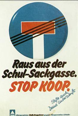 """1978 war dieses Volksbegehren in Nordrhein-Westfalen gegen die """"Kooperative Schule"""", eine Vorläuferin der Gesamtschule, erfolgreich – zieht das Thema heute noch? Screenshot von nrw.mehr-demokratie.de"""