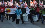 GEW-Mitglieder trommelten in Düsseldorf für ihre Forderungen im Tarifstreit. Foto: GEW NRW