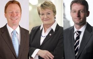 Von links: Christoph Matschie (SPD), Dorothea Henzler (FDP) und Wöller (CDU9