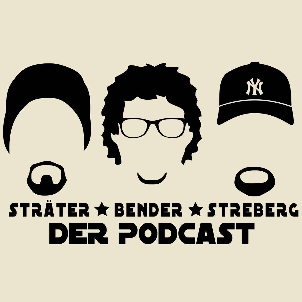 """Das Logo des Podcasts Sträter, Bender, Streberg. Bei diesem Podcast dürfen sie den drei alten Herren, Ihres Zeichens Kaberettist, Komiker und Autor. Bei der Bewertung von neu erschienenen Filmen, Serien und sonstigen """"wichtigen Nachrchten"""" aus der Medienlandschaft."""