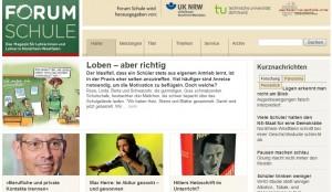 Screenshot der Homepage der NRW-Lehrerzeitschrift www.forum-schule.de