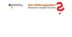 Mit dem Bildungspaket laufen in Brandenburg auch die daraus finanzierten Schulsozialarbeiterstellen aus. Logo: Bundesarbeitsministerium