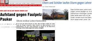 """Von """"Bild"""" über den NDR bis zur Lokalzeitung: Alle berichten über den """"faulen"""" Lehrer. Konkrete Vorwürfe? Fehlanzeige. Zusammenstellung: News4teachers"""