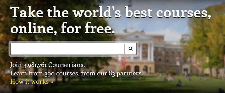 Die besten Kurse der Welt: Screenshot von www.coursera.org/