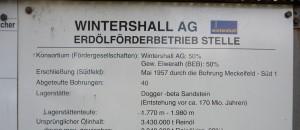 Schild an der ehemaltigen Wintershall Erdölförderstelle in Stelle (Harburg) bei Hamburg. Foto: Wusel 007 / Wikimedia Commons (CC BY-SA 3.0)