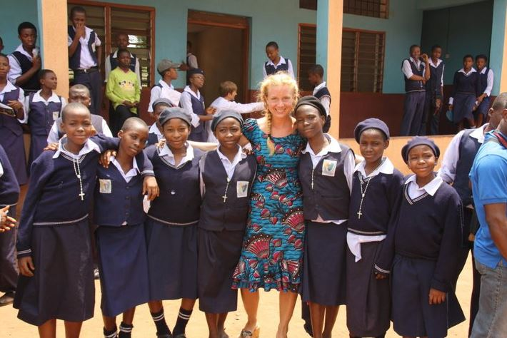 Marie-Christine Ghanbari bei ihrem Einsatz in Nigeria. Foto: privat.
