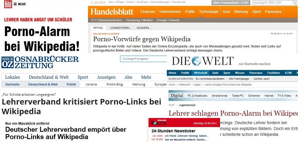Es rauscht im Blätterwald - der News4teachers-Bericht zu Wikipedia wird von vielen Medien zitiert. Screenshots
