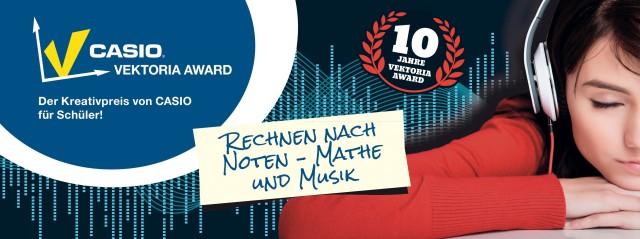 Der Mathematik-Wettbewerb Vektoria Award von CASIO hat in diesem Jahr das Thema Mathematik und Musik. Teilnahmeschluss ist der 15. März 2015