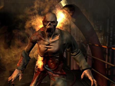 "Abstumpfend? Screenshot aus dem Computerspiel ""doom 3""."
