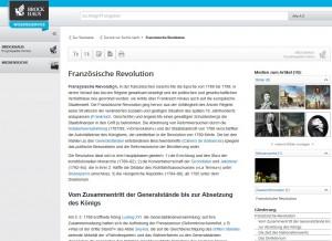 Das Traditionslexikon Brockhaus ist jetzt digital erhältlich. (Screenshot Brockhaus Wissensservice)