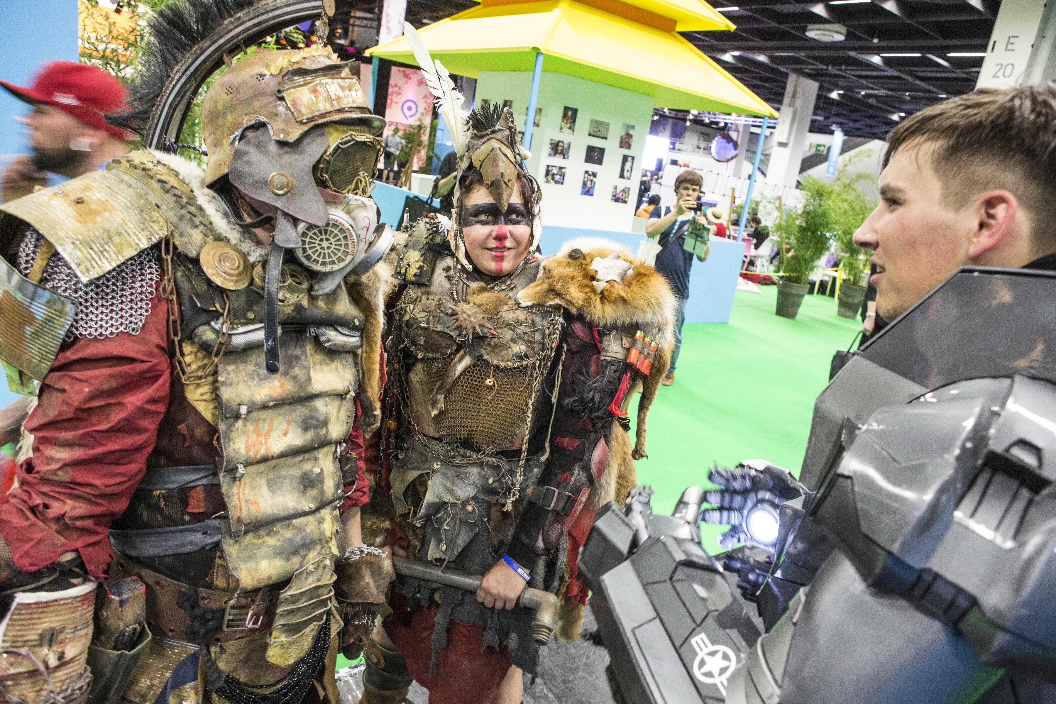 """besucher des """"Cosplay-Villages"""" auf der Gamescom 2014. (Foto: Kölnmesse)"""