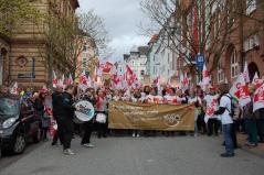 Viele hundert Erzieherinnen beteiligten sich in Schleswig-Holstein an den Warnstreiks. Foto: GEW Schleswig-Holstein