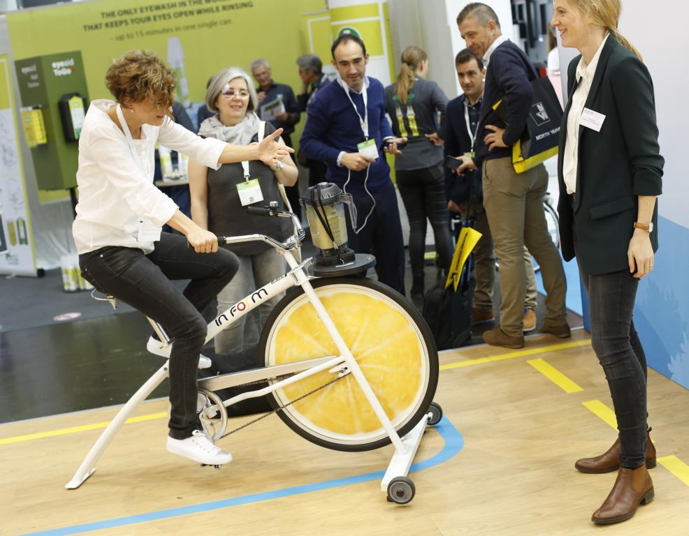 IN FORM – Deutschlands Initiative für gesunde Ernährung und mehr Bewegung auf der didacta 2018. Bildquelle: © MesseDuesseldorf, Foto: CTillmann