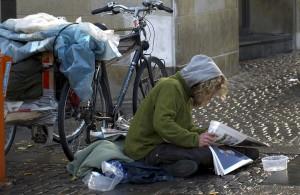 junger Obdachloser (in Kopenhagen)