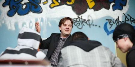 Konrektor Ingo Meyer in seiner BUS-Klasse