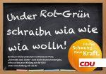 So sahen die Wahlplakate der CDU in Rheinland-Pfalz zum Thema Rechtschreibung aus. (Bilder: https://www.facebook.com/cdurlp/photos)
