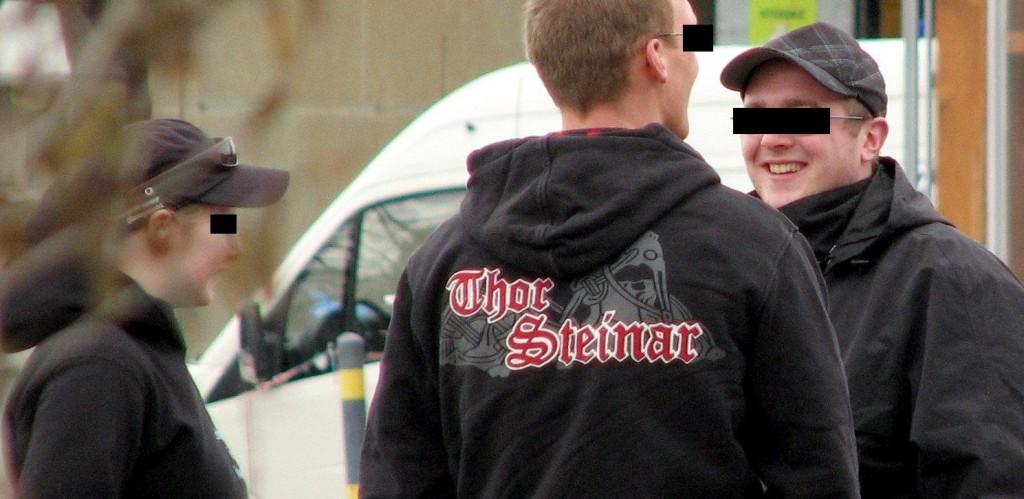 Kleidung der Marke Thor Steinar gilt als Erkennungszeichen von Rechtsextremen ; Foto: Autonome Antifa Freiburg