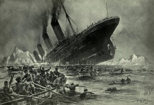 Der Untergang der Titanic; Foto: Willy Stöwer / Wikimedia Commons